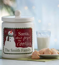 Personalized Santa Cookie Jar & Cheryl's Cookies