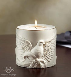 Lenox® Remembrance Porcelain Dove Tea Light
