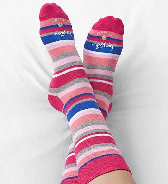 Good Day™ Striped Socks for Women