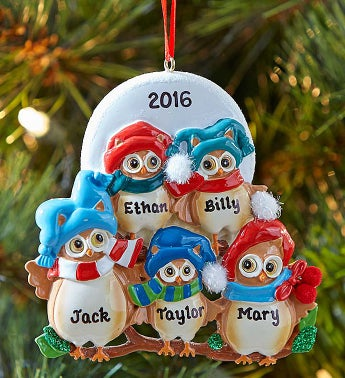Personalized Family Owl Ornament
