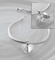 Chamilia® Bracelet with Secret Message Charm
