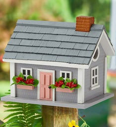 Summer Beach Cottage Birdhouse