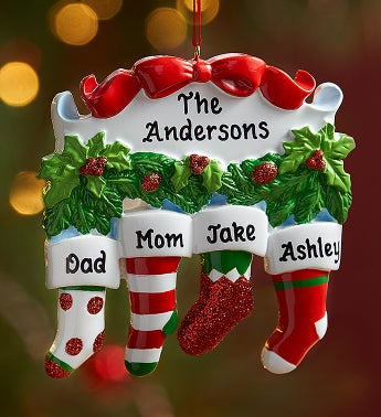 Personalized Family Stocking Ornament