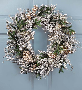 Keepsake Golden Frost Wreath - 22""