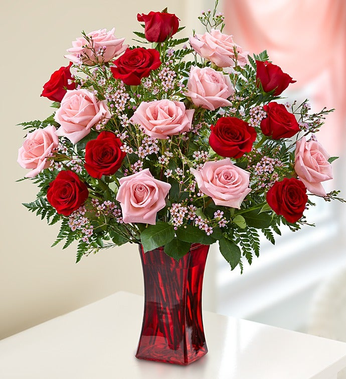 Shades Of Pink and Red(TM) - 12 Stems