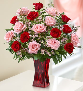 Shades Of Pink and RedTM - 12 Stems