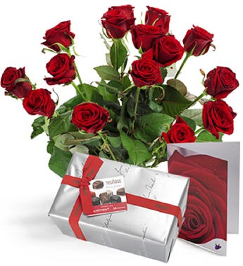 Red roses giftset