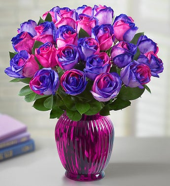 Kaleidoscope Roses, Pink and Purple