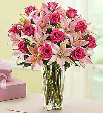 Pink Rose and Lily Magnificence