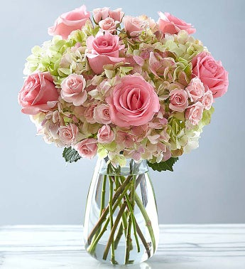 Premium Hand-tied Rose and Hydrangea Bouquet