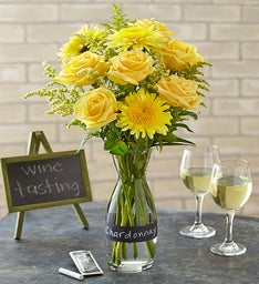 Chardonnay Bouquet with Wine Carafe