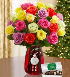 Holiday Lights Bouquet Rose Bundle