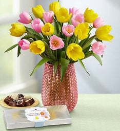 Pink & Yellow Tulips