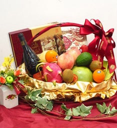 Delectable Basket of Fruits
