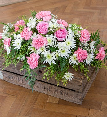 Pretty in Pink Casket Spray