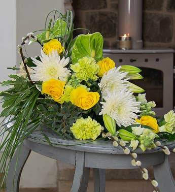 Yellow Spray Arrangement