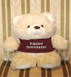 Happy Holiday Personalized White Bear