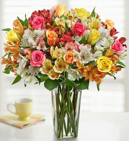Assorted Roses & Peruvian Lily