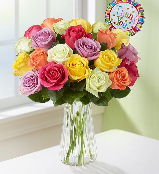 Thank You Assorted Roses, 12-24 Stems