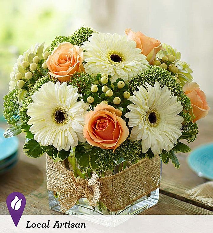 Modern Rose and Gerbera Daisy Bouquet