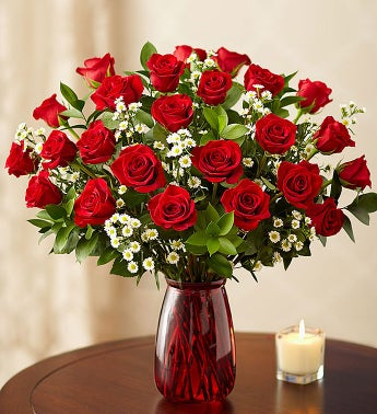 Premium Long-Stem Red Roses, 12-24 Stems