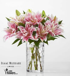Blushing - Double Bloom Lilies by Isaac Mizrahi