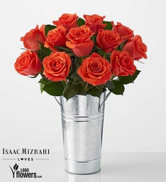 Darling - Orange Rose Bouquet by Isaac Mizrahi