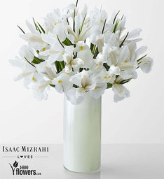 Divine - White Iris Bouquet By Isaac Mizrahi
