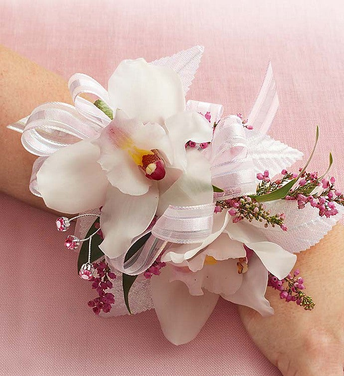 Cymbidium Orchid Corsage & Prom Corsage   Prom Boutonniere   Prom Flowers   1800Flowers.com