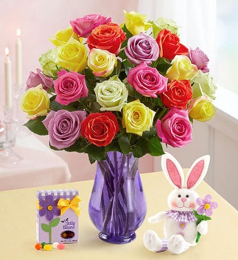 Easter Roses with Bunny