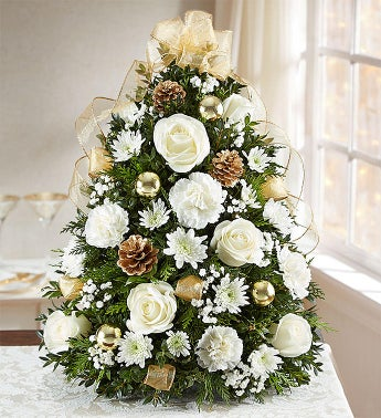 Glistening Gold™ Holiday Flower Tree®