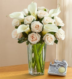 White Rose & Calla Lily Bouquet for Sympathy