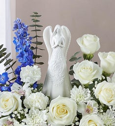 Serenity Angel Arrangement™ Blue and White