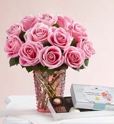 Charming Pink Roses for Mom