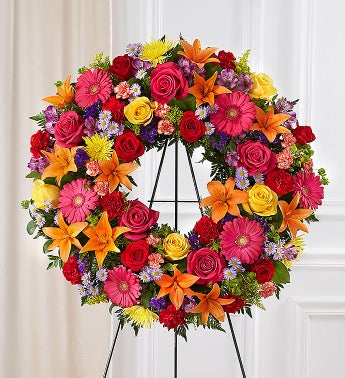 Serene Blessings Standing Wreath- Bright