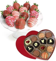 Berries and Decorated Belgian Chocolate-Dipped OREO® Cookies Gift
