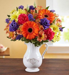 Pitcher Perfect Flower Arrangement