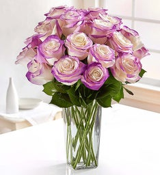 Bright Purple Airbrushed Roses