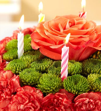 Birthday Wishes Flower Cake Yellow 1800Flowerscom 148664
