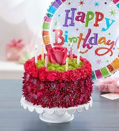 Birthday Flower Cake Happy Birthday Flower Cake 1800Flowerscom