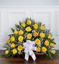 Sincerest Sympathies™ Fireside Basket- Yellow