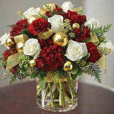 Glorious Christmas Flowers in a Vase