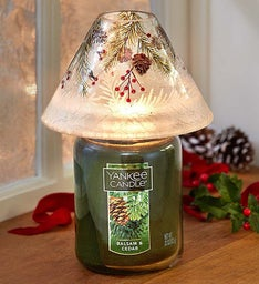 Yankee Candle® Frost Shade with Balsam Candle