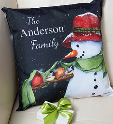 Personalized Snowman Pillow