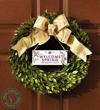 Personalized Seasons Wreath by Real Simple®-16