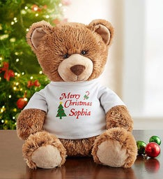 Personalized 'Happy Holidays!' Tommy Teddy