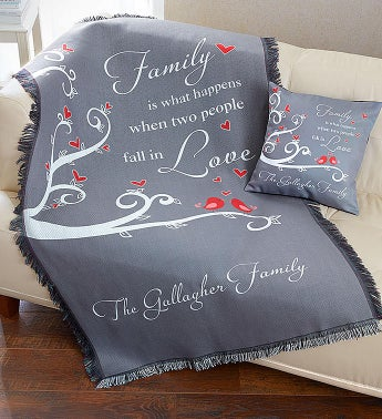 Personalized Love Pillow and Blanket