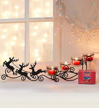Reindeer Sleigh & Yankee Candle® Tea Light Set