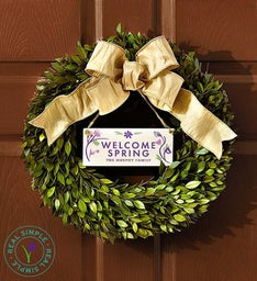 Personalized Seasons Wreath by Real Simple®-16""