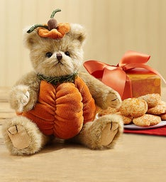Bearington® Fall Pumpkin Bear with Cookies